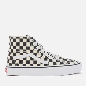 Vans Women's Sk8-Hi Tapered Checkerboard Hi-Top Trainers - Black/True White