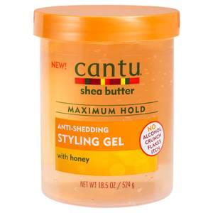 Cantu Shea Butter Maximum Hold Anti-Shedding Styling Gel with Honey 18.5 oz