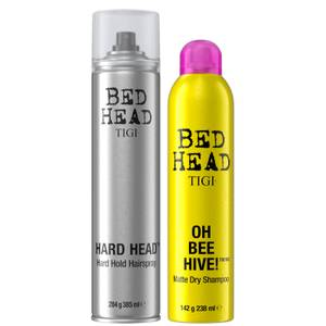 TIGI Bed Head Hair Styling Set with Dry Shampoo and Hairspray