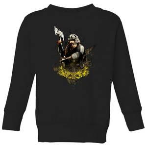 The Lord Of The Rings Gimli Kids' Sweatshirt - Black