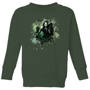The Lord Of The Rings Aragorn Colour Splash Kids' Sweatshirt - Forest Green