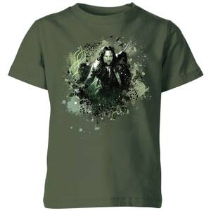 The Lord Of The Rings Aragorn Colour Splash Kids' T-Shirt - Forest Green