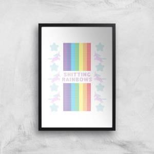 Shitting Rainbows Giclée Art Print