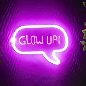 Neon Effect Write On Speech Bubble