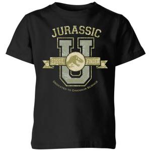 Jurassic Park Fossil Finder Kids' T-Shirt - Black