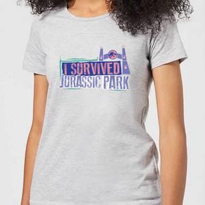 Jurassic Park I Survived Jurassic Park Women's T-Shirt - Grey