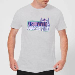 Jurassic Park I Survived Jurassic Park Men's T-Shirt - Grey