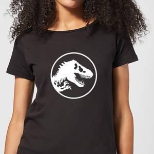 Jurassic Park Circle Logo Women's T-Shirt - Black
