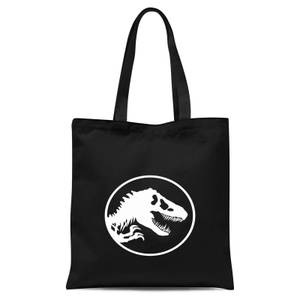 Jurassic Park Circle Logo Tote Bag - Black