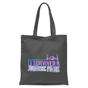 Jurassic Park I Survived Jurassic Park Tote Bag - Grey
