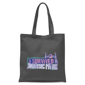 Jurassic Park I Survived Jurassic Park Tote Bag - Grey