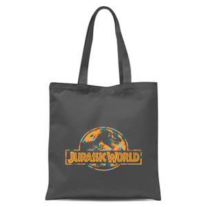 Jurassic Park Logo Tropical Tote Bag - Grey