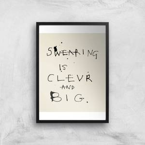Poet and Painter Swearing Is Giclee Art Print
