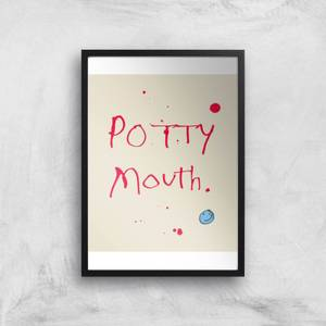 Poet and Painter Potty Mouth Giclee Art Print