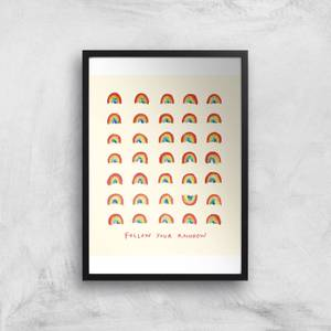 Poet and Painter Follow Your Rainbow Giclee Art Print
