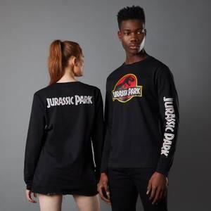 Jurassic Park Primal Classic Logo Unisex Long Sleeved T-Shirt - Black