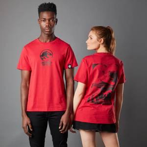 T-Shirt Jurassic Park Primal T-Rex - Rosso - Unisex