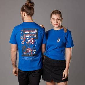 T-shirt Marvel Captain America Issue 1 - Bleu - Unisexe
