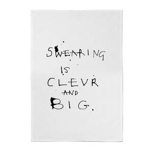 Poet and Painter Swearing Is Tea Towel
