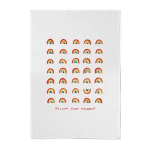 Poet and Painter Follow Your Rainbow Cotton Tea Towel