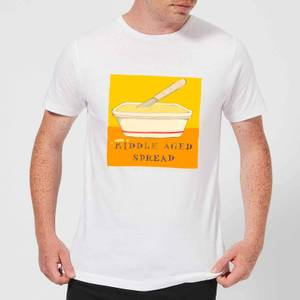 Poet and Painter Middle Aged Spread Men's T-Shirt - White