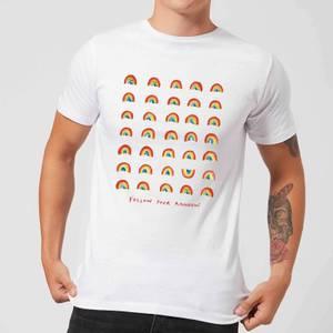 Poet and Painter Follow Your Rainbow Men's T-Shirt - White