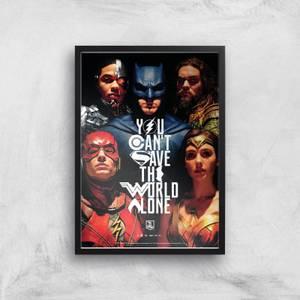 DC Justice League Giclée Kunstdruck
