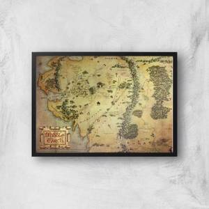 Lord Of The Rings Map Giclee Art Print