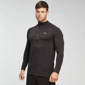 MP Men's Performance 1/4 Zip Top - Black Marl