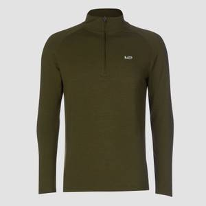 MP Performance 1/4 Zip - Army Green/Sort