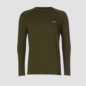 MP Performance Long Sleeve T-Shirt - Army Green/Sort
