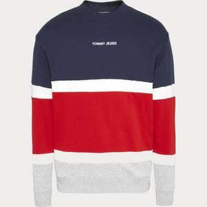 Tommy Jeans Men's Retro Colorblock High Crewneck Sweatshirt - Twilight Navy/Multi