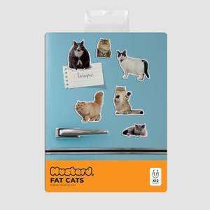 Mustard Fat Cat Magnets