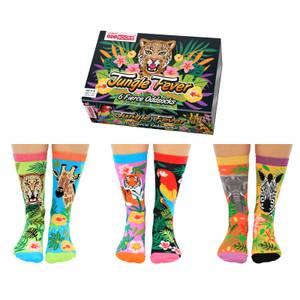 United Oddsocks Women's Jungle Fever Socks Gift Set