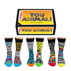 United Oddsocks Men's You Animal! Socks Gift Set