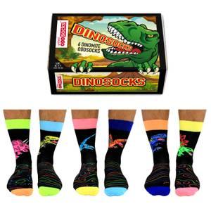 United Oddsocks Men's Dinosocks Socks Gift Set