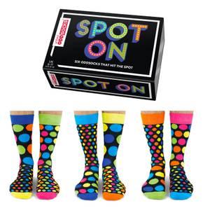 United Oddsocks Men's Spot On Socks Gift Set