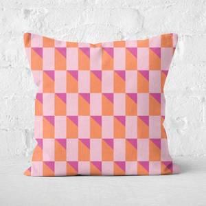 Geometric Square Cushion