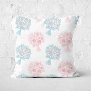 Bouquet Pattern Square Cushion