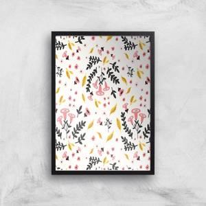 Small Flower Print Giclée Art Print