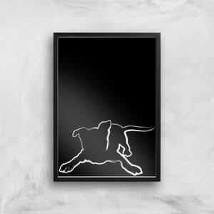 Playful Dog Giclée Art Print