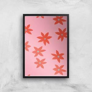 Blush Tone Flowers Giclée Art Print