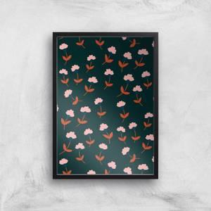 Dark Tone Florals Giclée Art Print