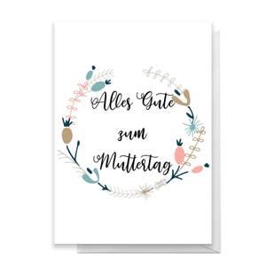 Alles Gute Zum Muttertag Greetings Card