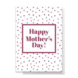 Happy Mother's Day Dots Greetings Card