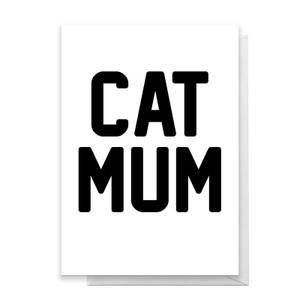 Cat Mum Greetings Card