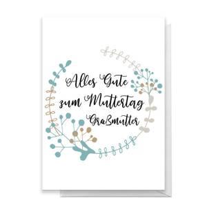 Alles Gute Zum Muttertag Gra?mutter Greetings Card