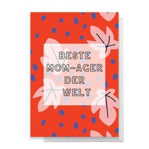 Beste Mom-ager Der Welt Greetings Card