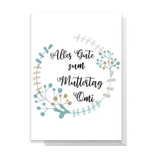 Alles Gute Zum Muttertag Omi Greetings Card