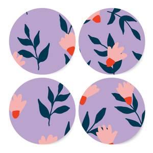 Cool Tone Florals Coaster Set